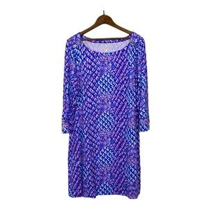Lilly Pulitzer Sophie Dress Royal Purple Popup Toe